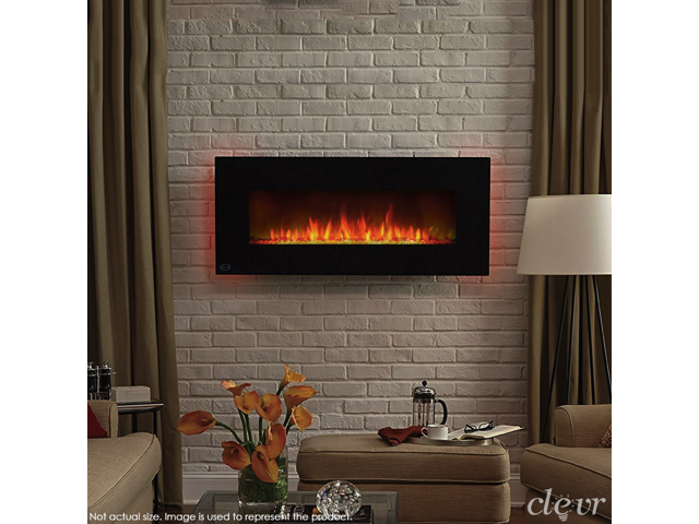Clevr 39 Wall Mount Adjustable Electric Fireplace Heater W Backlight