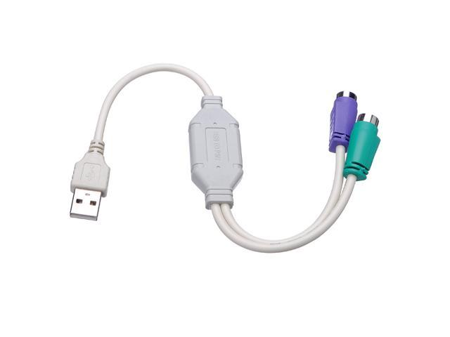 A Male to PS2 PS/2 Female USB Mouse Keyboard Converter Adapter Cable PC  Laptop - Newegg com