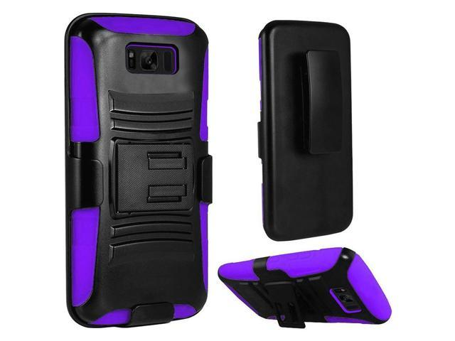 designer fashion 19080 ffca1 Galaxy S8 Plus Case, Heavy Duty Dual Layer Rugged Armor Holster Defender  Full Body Protective Hybrid Case Cover w/ Side Kickstand & Belt Clip for ...