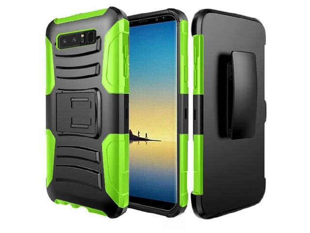 quality design 9d281 60d89 Samsung Galaxy Note 8 Case, Combo Shell & Holster Case - Super Slim Shell  Case with Built-In Kickstand, Swivel Belt Clip Armor Holster Defender Case  ...
