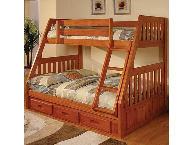 Discovery World Furniture Honey Bunk Bed Twin Full Mission With Twin