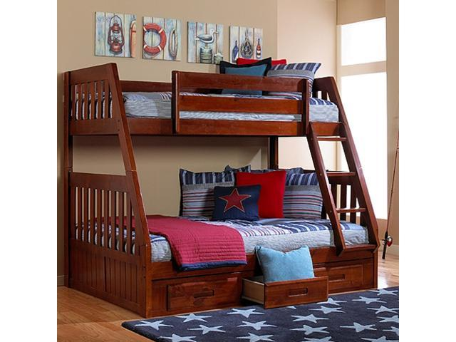 Discovery World Furniture Merlot Mission Bunk Bed Twin Full With 2