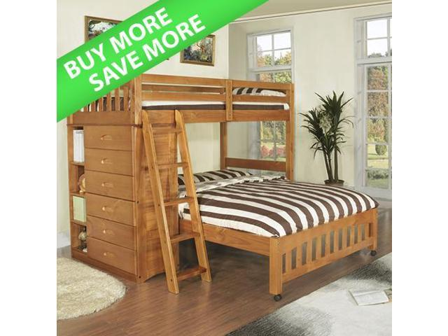 Discovery World Furniture Honey Loft Bunk Bed Twin Over Full With