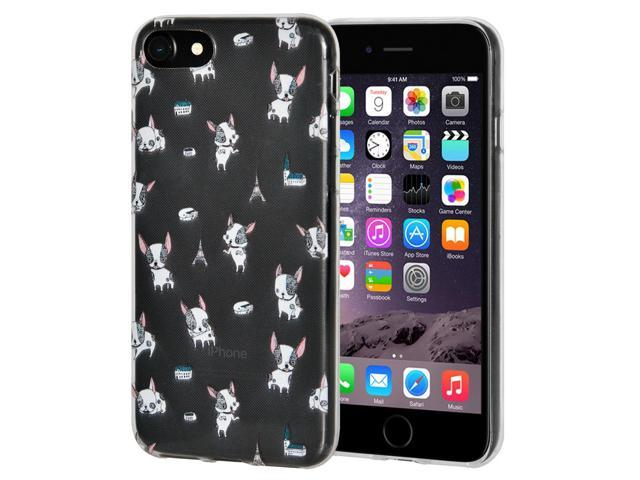 low priced b78ac d3c87 iPhone 6 Plus, 6s Plus Silicone Gel Case w/ Tempered Glass Screen  Protector, Thin Clear Art Gel TPU Rubber Flexible Slim Skin Soft Designer  Case for ...