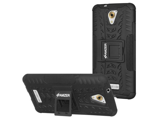 Coolpad Mega 3 Case, [Heavy Duty] [Shockproof] Hybrid Warrior Armor  Protective Case Cover with Stand, Includes [Hybrid Warrior Case: Black] +  [Micro