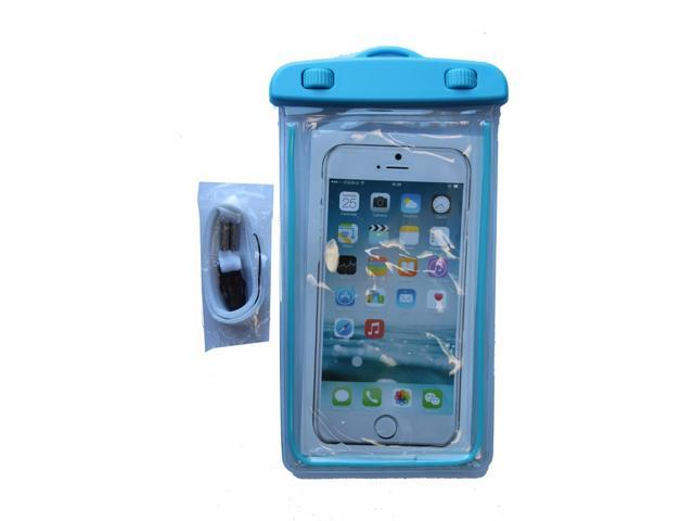 sale retailer 18b8d e09f1 ZForce Easy-Open Waterproof Tight Cell Phone Case For Smartphones iPhone,  Samsung, HTC, Sony, Nokia, Blackberry, and iPod (Blue) - Newegg.com
