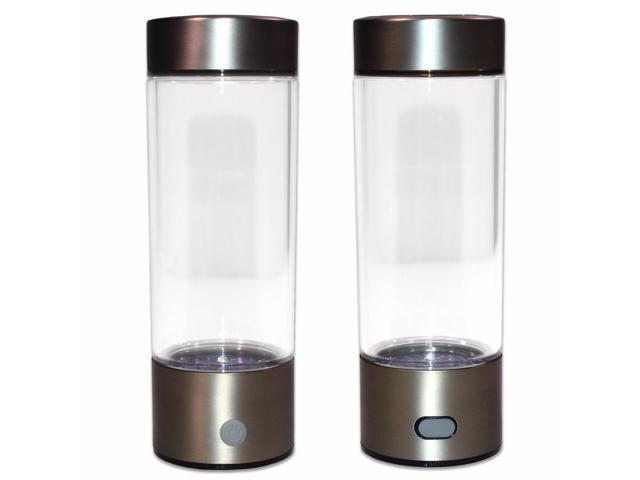73f55c900e Portable Hydrogen Transparent Water Bottle Cup Recharge Hydrogen Rich Water  Ionizer Maker Generator 450mL Capacity Battery Light Healthy Water Purifier  ...