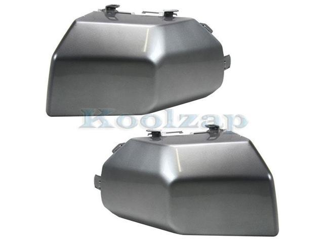 Door Handles Outside Exterior Silver Front Pair Set for 07-14 Toyota FJ Cruiser