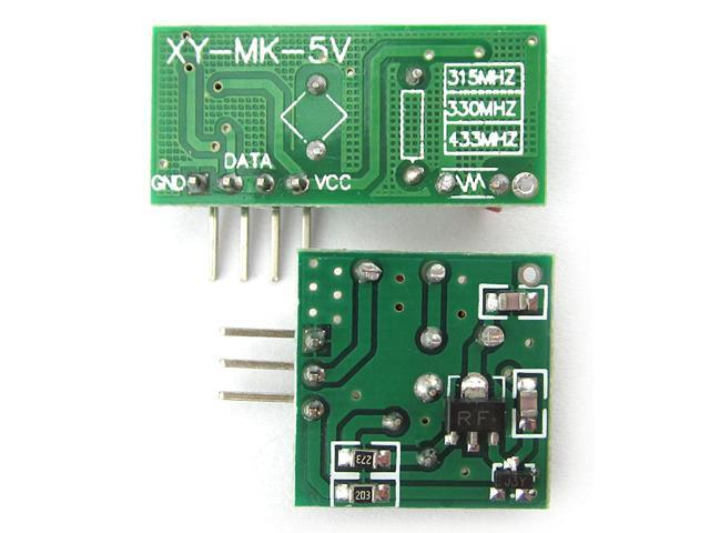 MX-05V 433MHZ RF Wireless Receiver Module MX-FS-03V Transmitter Module Kit  For Arduino Raspberry Pi AVR ARM - Newegg com