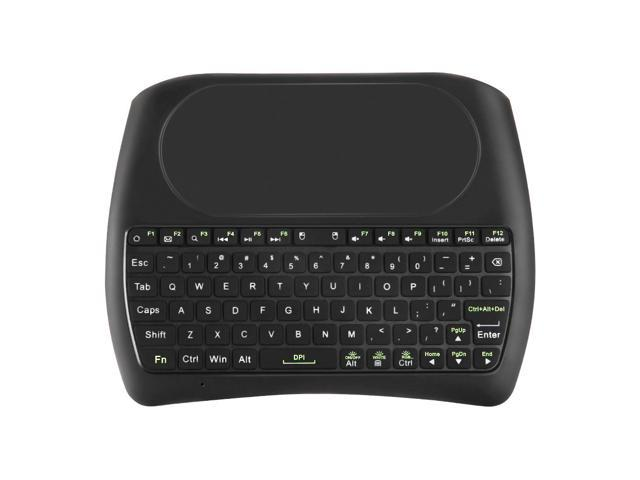 D8-L Mini Keyboard Mouse Combo Backlit Version 2 4G Wireless Colorful  variable light - Black - Newegg com