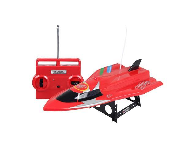 ShenQiWei CT3362 27Mhz 4CH Double Propeller RC Racing Boat - Red - Newegg ca