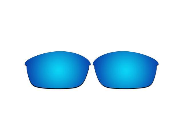 aaf6a555d3 ACOMPATIBLE Replacement Lenses for Oakley Flak Jacket Sunglasses (Ice Blue  Mirror - Polarized)
