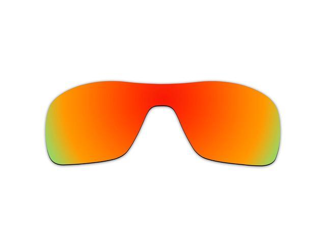 d29f87d8a9 ACOMPATIBLE Replacement Lenses for Oakley Turbine Rotor Sunglasses OO9307 (Fire  Red Mirror - Polarized)