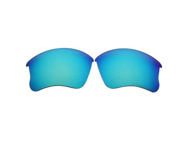 af5b137b5ad ACOMPATIBLE Replacement Lenses for Oakley Flak Jacket XLJ Sunglasses (Ice  Blue Mirror - Polarized)