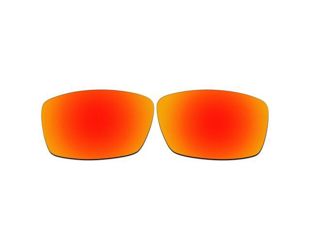be6fba23d5 ACOMPATIBLE Replacement Lenses for Oakley Nanowire 4.0 Sunglasses (Fire Red  Mirror - Polarized)