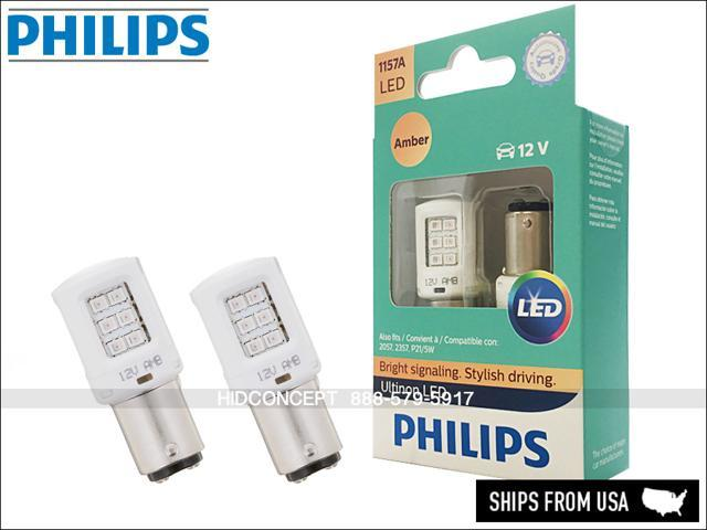 NEW 1157 PHILIPS ULTINON LED 12V BULBS **AMBER** 1157AULAX2 (Pack of 2) -  Newegg com