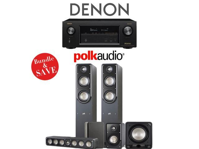 Polk Audio Signature S50 5 1-Ch Home Theater Speaker System with Denon  AVR-X2400H 7 2-Channel Network A/V Receiver - Newegg com