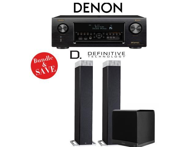 Denon AVR-X4400H 9 2-Channel 4K Network AV Receiver + Definitive Technology  BP9080x + Definitive Technology SuperCube6000 - 2 1-Ch Home Theater