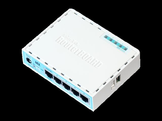 Mikrotik hEX RB750Gr3, 5-port gigabit router USB microSD PoE in - Newegg com