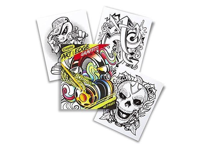 Crayola Art with Edge, Graffiti Coloring Book 04-0028 - Newegg.com