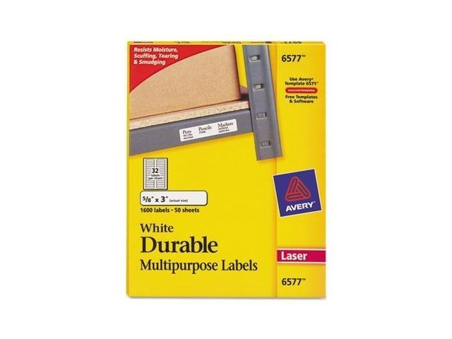 Avery Durable Permanent ID Labels With TrueBlock Technology