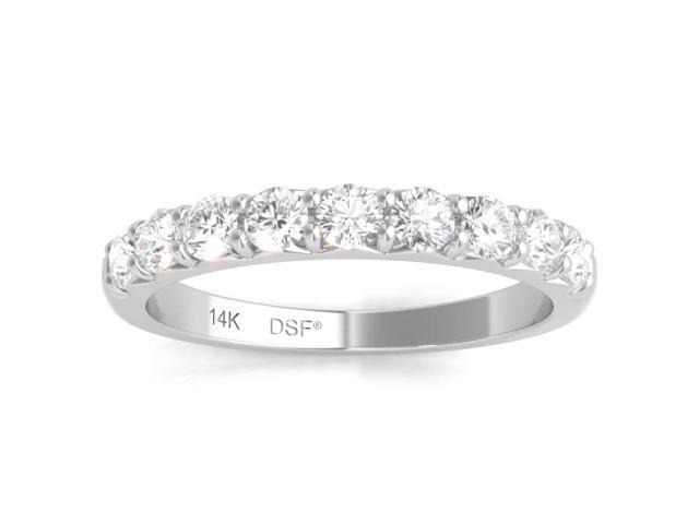 f72b3bd65ff93 Diamond Studs Forever 14K White Gold Diamond Wedding Band (1/2 Ct tw, IGI  USA Certified GH/I1) - Newegg.com