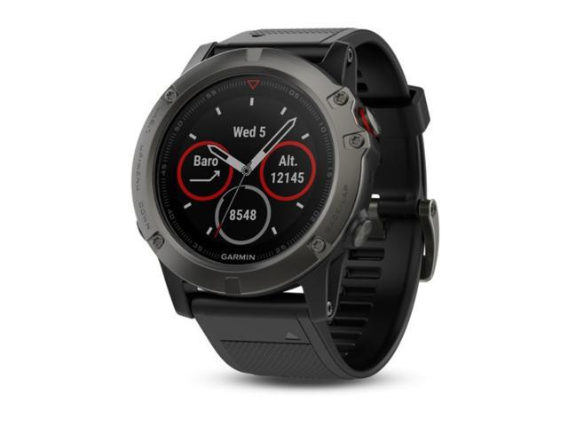 cfc051d855b Garmin Fenix 5X Sapphire Multisport GPS Watch with Mapping Wrist HR Slate  Gray