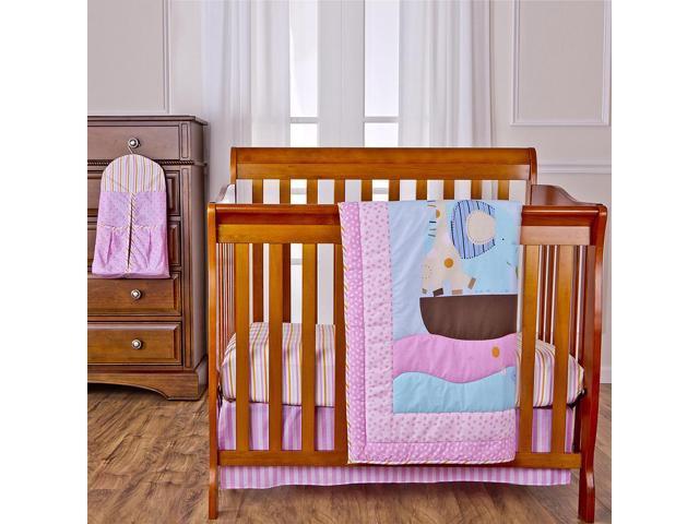 Dream On Me Sea Friends 4 Piece Reversible Portable Crib Bedding