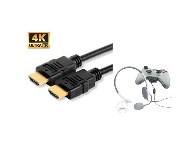 Insten WHITE Gaming Headphone with Microphone + 25 Feet HDMI Cable for PS4  XBOX 360 - Newegg com