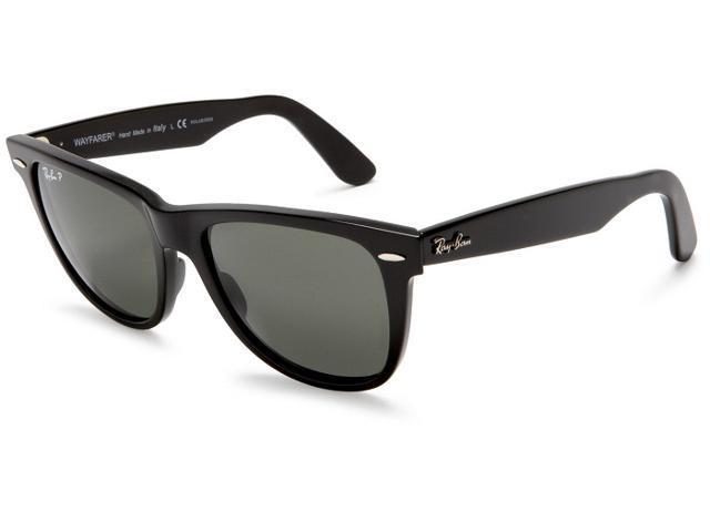 0e7dfd5e159 Ray Ban Original Wayfarer Acetate Black Frame Green Classic G-15 Lens  Unisex Sunglasses RB2140