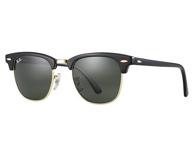 340939e4d Ray-Ban Classic Clubmaster RB3016 W0365 Black Arista Gold Frame G-15 Lens