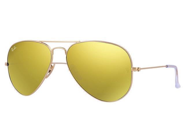 2fe7a2aa769c9 Ray Ban RB3025 Aviator Flash Lenses Sunglasses - Gold Frame Yellow Lens