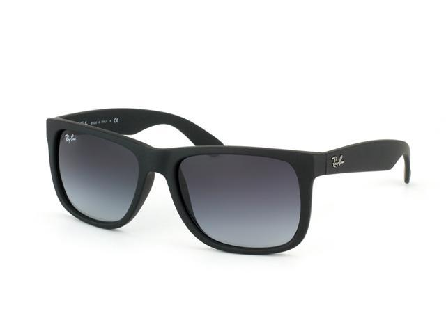 547a525b6f3f45 Ray Ban RB4165 Justin Sunglasses - Rubber Black Frame   Gray Gradient  Lenses 601 8G (Size 54-16)