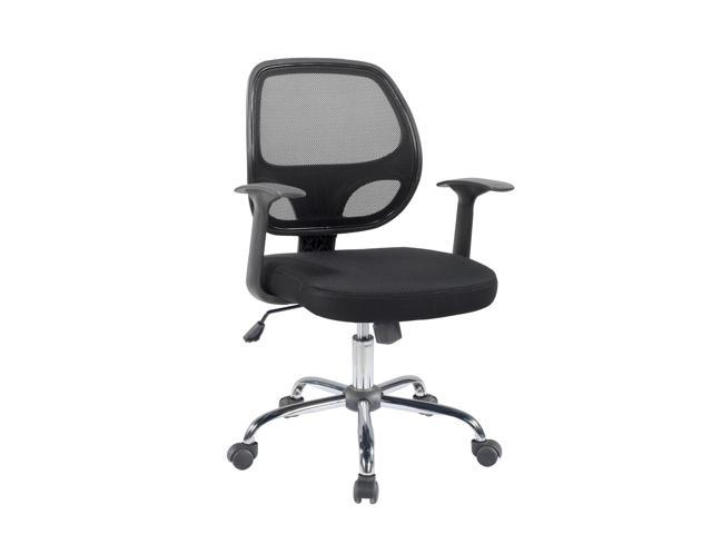 Super Btexpert Black Mesh Mid Back Tilt Swivel Office Desk Task Chair Chrome Base And Arms Andrewgaddart Wooden Chair Designs For Living Room Andrewgaddartcom