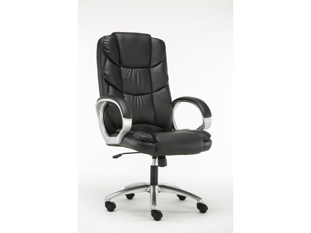 Brilliant Btexpert Ergonomic High Back Swivel Office Leather Upholstered Executive Chair Computer Desk Task Seat Black Newegg Com Andrewgaddart Wooden Chair Designs For Living Room Andrewgaddartcom