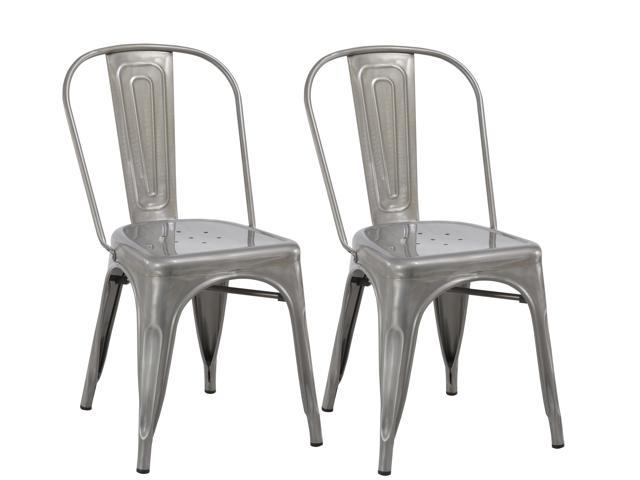 Surprising Btexpert Industrial Vintage Stackable Tabouret Clear Brush Metal Distressed Dining Bistro Cafe Side Chair Set Of 2 Andrewgaddart Wooden Chair Designs For Living Room Andrewgaddartcom