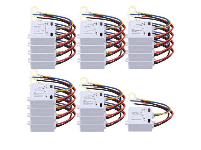 Magnificent Bqlzr 20Pcs Xd 608 On Off Touch Switch 6 12V Dc For Led Lamp Wiring Cloud Tobiqorsaluggs Outletorg