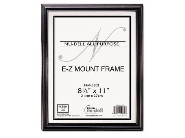 Nudell Ez Mount Document Frame Plastic 8 12 X 11 Black