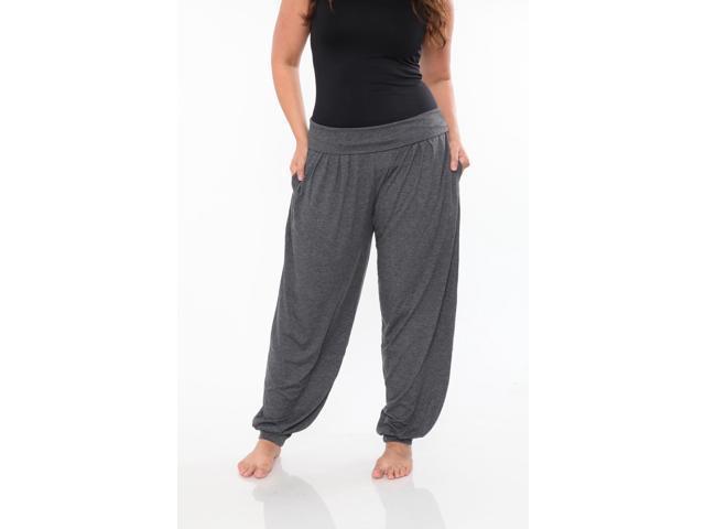 aa8f13a7545 White Mark Women s Plus Size Charcoal Harem Pants - Newegg.com