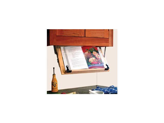 Gentil Under Cabinet Cookbook Holder, Wood, Acrylic U0026 Metal Hinges