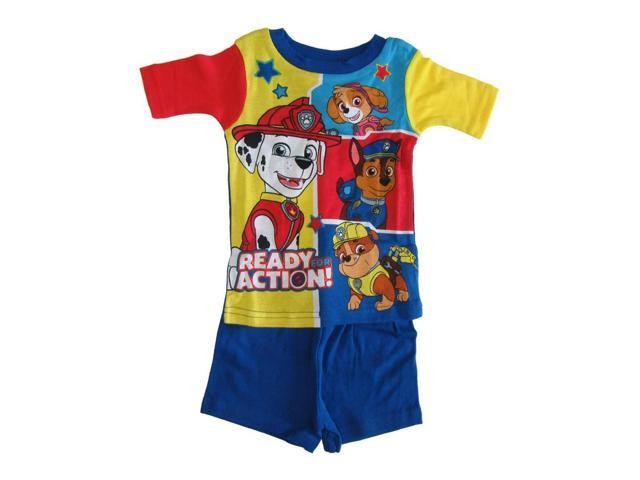 af3d1c3be660 Nickelodeon Little Boys Royal Blue Yellow Paw Patrol Two Piece Pajamas 3T