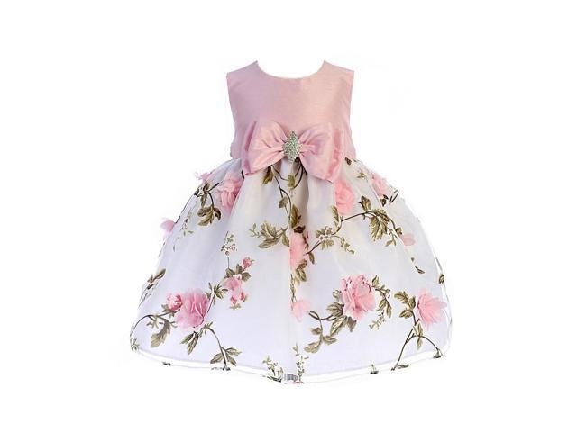 c2c66b048c103 Crayon Kids Baby Girls Pink Floral Print Easter Flower Girl Dress 6-9M -  Newegg.com