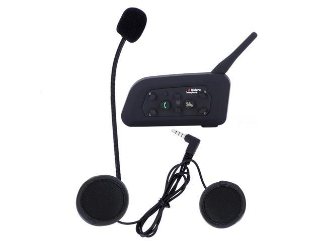 1200m 6 Riders BT Intercom Bluetooth Motorcycle Helmet Interphone Headset V6