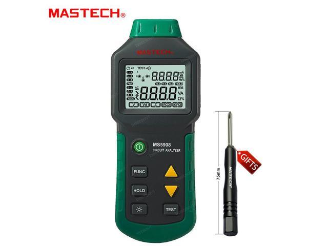Mastech MS5908 RMS Circuit Analyzer Tester Compared w/ IDEAL Sure Test  Socket Tester 61-164CN 110V or 220V Mastech - Newegg com