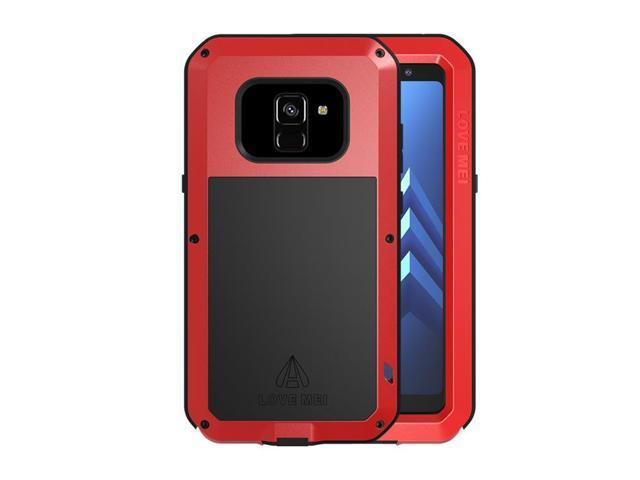 finest selection 96455 eb158 LOVE MEI Aluminum Metal Case For Samsung Galaxy A8 Cover Powerful Armor  Shockproof Life Waterproof Case For Samsung Galaxy A8 (Red) - Newegg.com