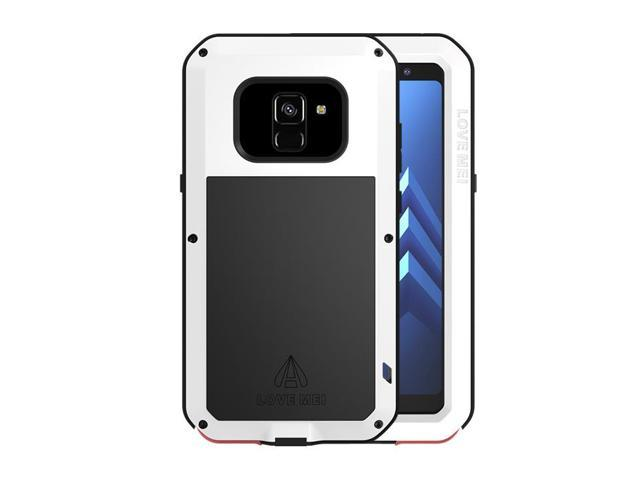 new arrival 2432d 69f8d LOVE MEI Aluminum Metal Case For Samsung Galaxy A8 Plus Cover Powerful  Armor Shockproof Life Waterproof Case For Samsung Galaxy A8 Plus (White) -  ...