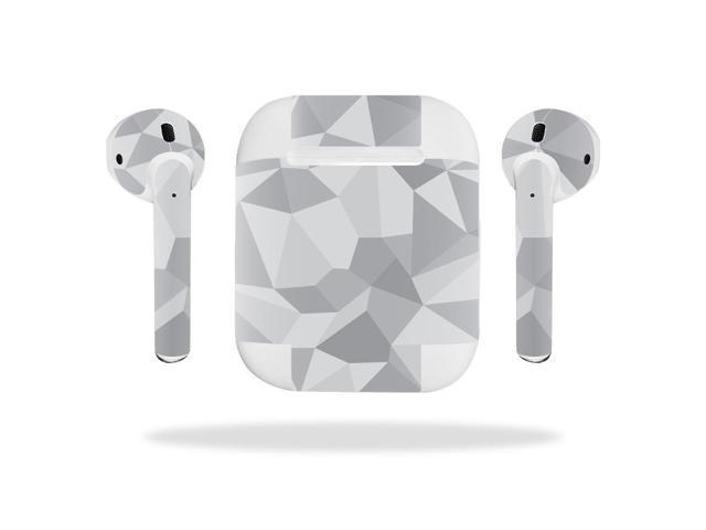 1dcb8efc956 Skin Decal Wrap for Apple AirPods sticker Gray Polygon - Newegg.com