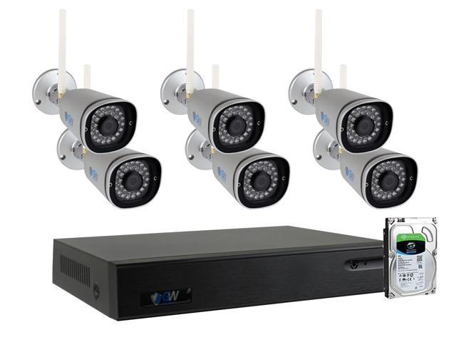 GW 9 Channel 5MP 1920P Network Wireless WiFi Security Camera System ...