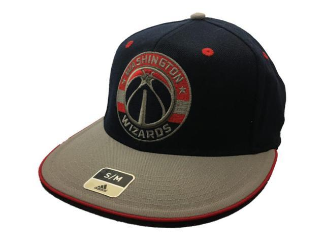 Washington Wizards Adidas SuperFlex Navy Fitted Rounded Flat Bill Hat Cap  (S M) 6165472b90a
