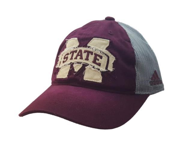 43bb8a2011cc4 Mississippi State Bulldogs Adidas Faded Maroon Mesh Snapback Baseball Hat  Cap